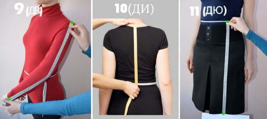 как снять мерки для пошива вышиванки