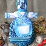 Набор для изготовления оберега из ткани 'Берегиня' голубая. | bereginya_golubaya