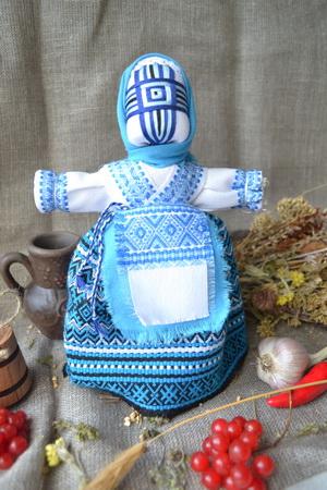 Набор для изготовления оберега 'Берегиня' голубая. | bereginya_golubaya