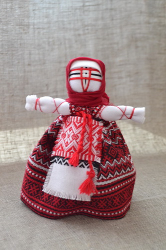 Набор для изготовления оберега 'Берегиня' красная. | bereginya_krasnaya