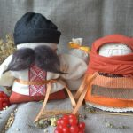 Набір для виготовлення оберегів 'Багач та Крупеничка' помаранчеві. | bogoch_krupenichka_orang
