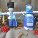 Набор для изготовления оберега 'Неразлучники' голубые. | nerozluchniky_golubie